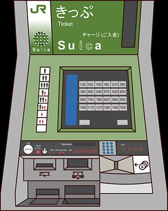 Machines de vente de tickets au Japon