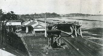 Gare de Shinagawa à l'époque Edo