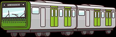 Illustration d'une rame de trains Yamanote E235